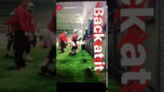 The Difference Takeover during Practice on The Ohio State University Football Team Instagram Story