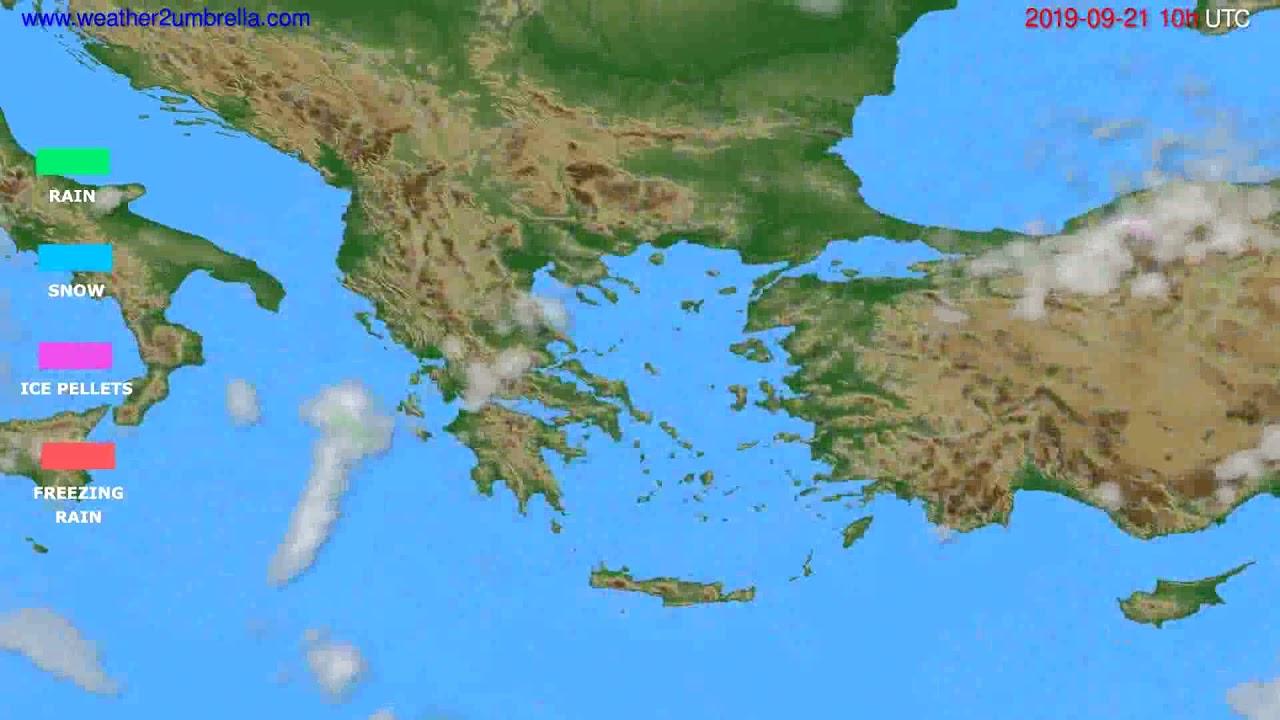 Precipitation forecast Greece // modelrun: 12h UTC 2019-09-18
