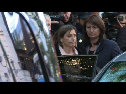 Catalan parliament speaker arrives at court for 'sedition'