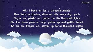 [LYRICS] 1000 Nights - Ed Sheeran feat. Meek Mill & A Boogie Wit Da Hoodie