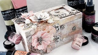 Altered Mixed Media Jewelry Box For The Dusty Attic