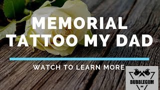 Memorial Tattoo Quotes For Dad  /  Using Cremation Ashes In Tattoo Ink For A Memorial Tattoo.