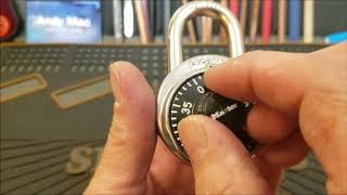 (544) Quick and easy way to get your lost combination back to your lock' No math