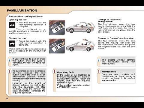 Peugeot 307cc  - Owner's Manual  #ownermanual #peugeot #ownersmanual