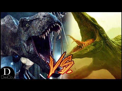 T-Rex (JURASSIC PARK) VS Skull Crawler (KONG: SKULL ISLAND)   BATTLE ARENA
