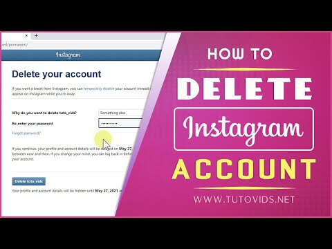 How to Delete Your Instagram Account 2021