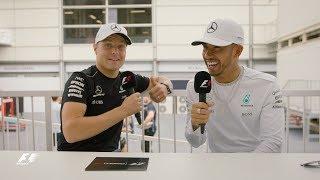 Mercedes' Lewis Hamilton & Valtteri Bottas   F1 Grill the Grid