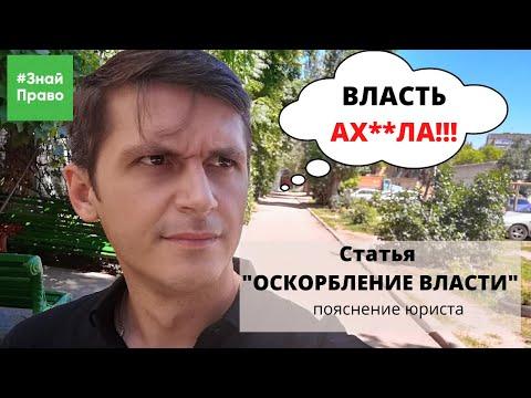 "статья за ""Оскорбление власти"" / критика власти в интернете / #ЗнайПраво"