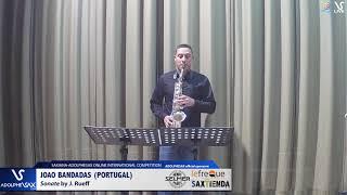 Joao BANDADAS plays Sonata by J. Rueff #adolphesax