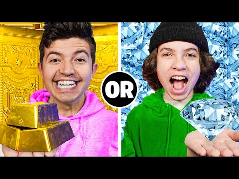 Would You Rather Have Infinite DIAMONDS or GOLD? - Minecraft Challenge