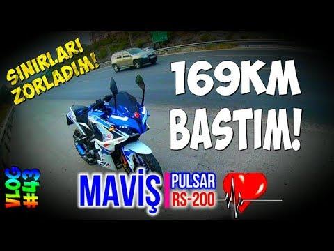 PULSAR RS200 - 169KM/h BASTIM! | RAMPADA SINIRLARI ZORLADIM