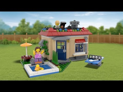 Vidéo LEGO Creator 31067 : Les vacances à la piscine