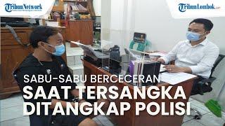 Sabu Berceceran saat Pria di Mataram Ditangkap Polisi