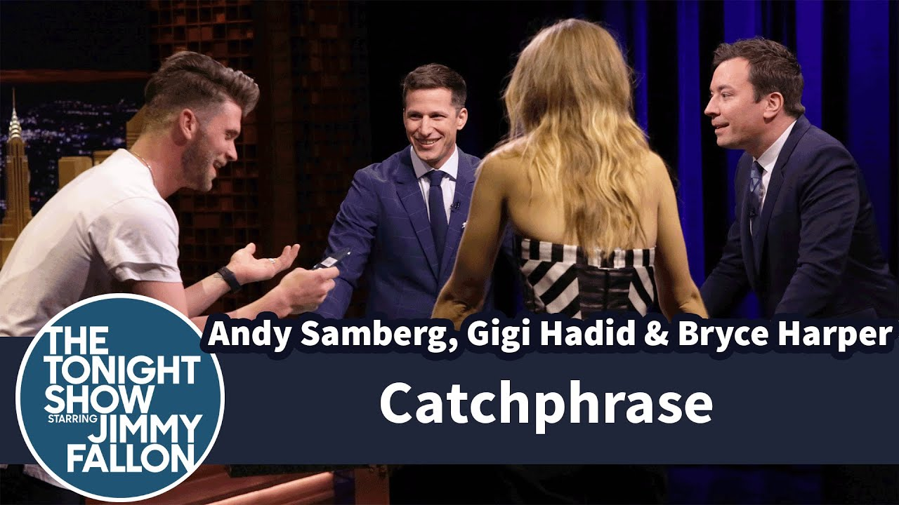 Catchphrase with Andy Samberg, Gigi Hadid and Bryce Harper thumbnail