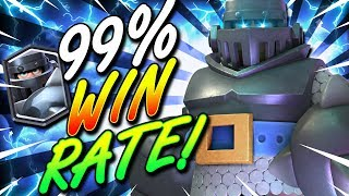 99% WIN RATE!! BEST MEGA KNIGHT DECK EVER IN CLASH ROYALE!!