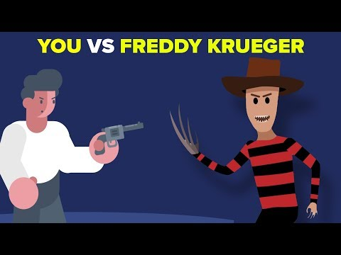 YOU vs FREDDY KRUEGER -How Can You Defeat and Survive It? (A Nightmare on Elm Street) (видео)