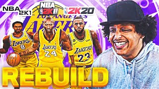 REBUILDING THE LA LAKERS IN EVERY SINGLE NBA 2K GAME...