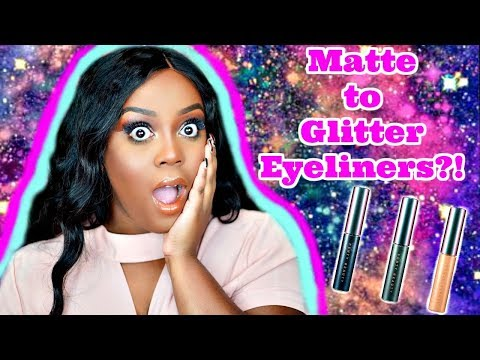 NEW Fenty Beauty 2 n 1 Glitter Release Eyeliner REVIEW + DEMO| Should You Buy!?