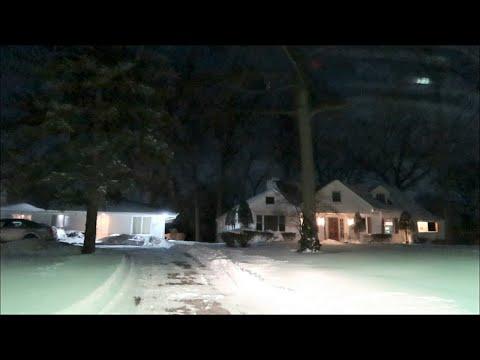 DETROIT EASTSIDE AREA / PRIVATE NEIGHBORHOOD AREA AFTER SNOWSTORM
