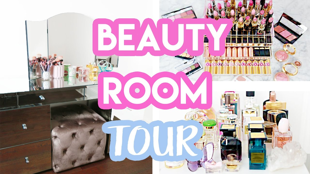 BEAUTY ROOM TOUR + MAKEUP COLLECTION 2017   Amelia Liana