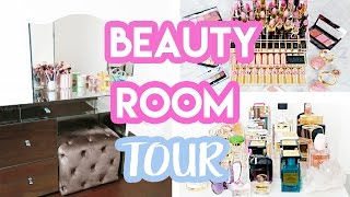 BEAUTY ROOM TOUR + MAKEUP COLLECTION 2017 | Amelia Liana