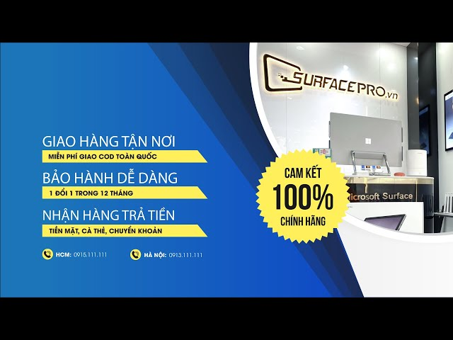 SurfacePro.vn - Phân phối các sản phẩm Microsoft Surface chính hãng