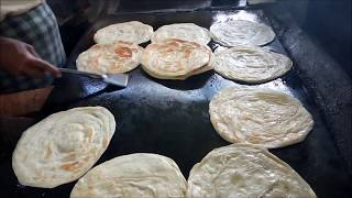 How To Make Layered Soft Parotta / Kerala Paratta / Village Food