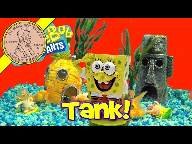 Spongebob's Bikini Bottom Electronic Underwater World Fish Tank!