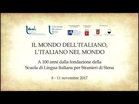 IL MONDO DELL'ITALIANO, L'ITALIANO NEL MONDO - venerdì 10 novembre