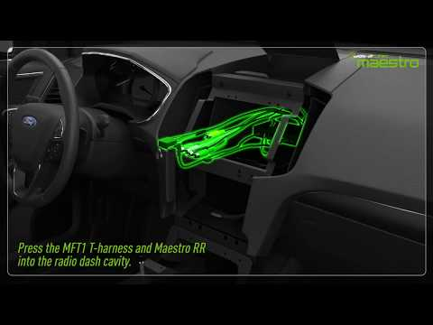 Video tutorial showing how to install the  MFT1 and Maestro module in an SUV.