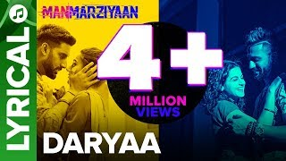 Daryaa | Lyrical Audio Song | Manmarziyaan | Amit Trivedi