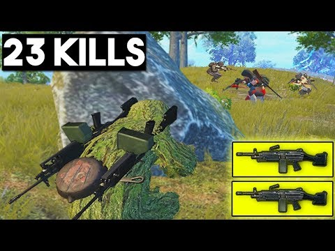 DOUBLE MACHINE GUN IS BROKEN!! | 23 KILLS | PUBG Mobile 🐼