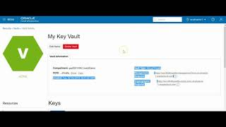 Oracle Cloud Infrastrucuture: (KMS) Key Managment Service