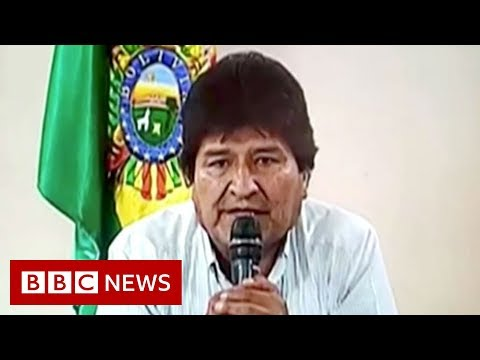 Bolivia's president announces resignation - BBC News