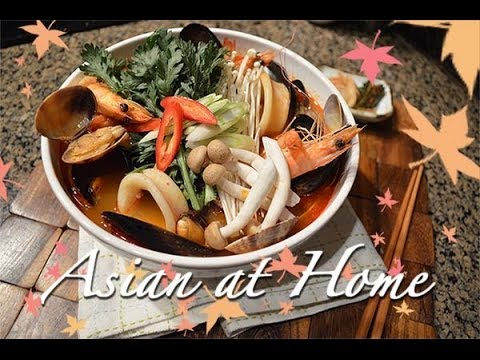 Soup Recipe : Korean Spicy Seafood Soup : Asian at Home Hosted by Seonkyoung Longest