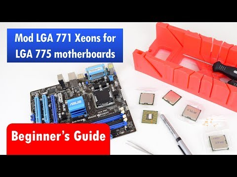 Modding cheap LGA 771 Xeon Processors for Socket 775 Motherboard