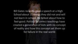 Bill Gates 11 Rules You Will Never Learn In School