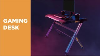 GMD01-1 Deluxe Aluminum Gaming Desk Overview Video