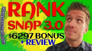 RANKSNAP 3.0 Review, Demo & $6297 Bonus - RANK SNAP 3.0 Review