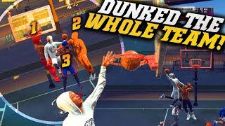 NBA 2K19 Park: Dunked On The WHOLE TEAM At ONCE! Pure Slasher Road To 99 Overall!