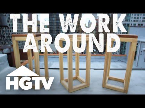 How to Make an Easy Modern Stool - The Work Around - HGTV