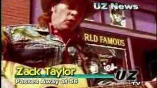UZ News - Zack Taylor Dies - Finnegans St Patrick's