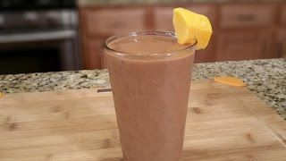 Chocolate Mango Smoothie with Chia Seeds – Summer Drinks