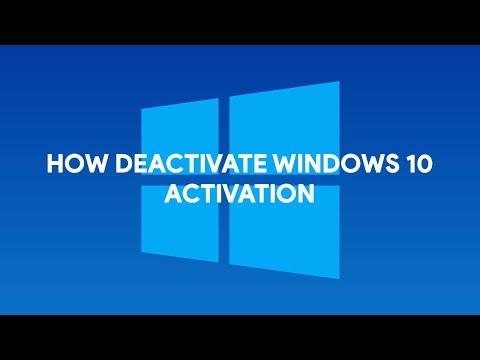 How To Deactivate Windows 10 Activation - [romshillzz]
