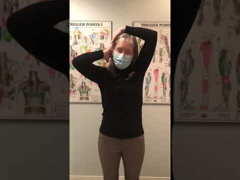 Neck pain stretches with fcampt physio Shannon
