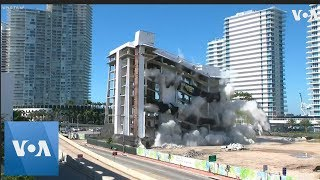 Miami Beach, Florida, Hospital Imploded