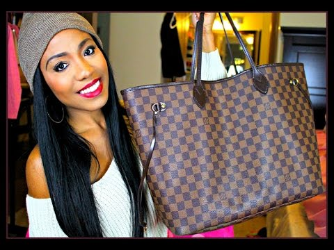 What's In My Bag 2016 ♡ Louis Vuitton Neverfull GM Damier Ebene Review | Fashion, Beauty, + More!