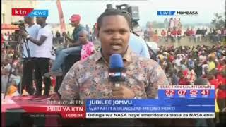 Jubilee Jomvu: Uhuru na naibu wake Ruto wako katika eneo la Jomvu