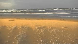шторм утром на каспийском море