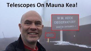 The Telescopes On Top of Mauna Kea (on a bad day)
